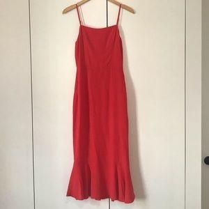 Reformation Spaghetti Strap Red Dress Size 4